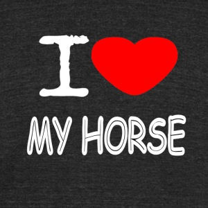 I LOVE MY HORSE - Unisex Tri-Blend T-Shirt by American Apparel