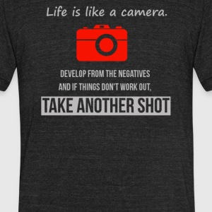 Life like camera - Unisex Tri-Blend T-Shirt by American Apparel