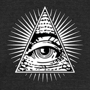 All seeing eye! Illuminati! - Unisex Tri-Blend T-Shirt by American Apparel