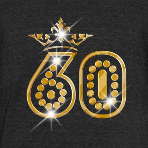 60 - Birthday - Queen - Gold - Burlesque - Unisex Tri-Blend T-Shirt by American Apparel