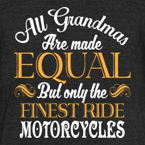 The Finest Ride Motorcycles T Shirt - Unisex Tri-Blend T-Shirt by American Apparel