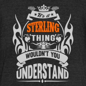 IT'S A STERLING THING TSHIRT - Unisex Tri-Blend T-Shirt by American Apparel