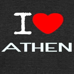I LOVE ATHEN - Unisex Tri-Blend T-Shirt by American Apparel