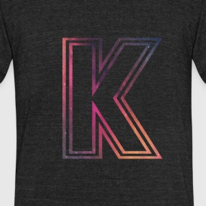 Fame Allstars Alphabet K - Unisex Tri-Blend T-Shirt by American Apparel