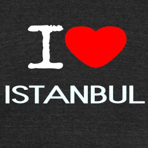 I LOVE ISTANBUL - Unisex Tri-Blend T-Shirt by American Apparel