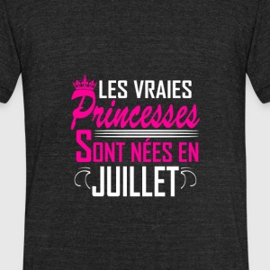 Juillet - Anniversaire - Princess – FR - Unisex Tri-Blend T-Shirt by American Apparel