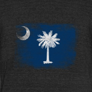 South Carolina State Flag Distressed Vintage Shirt - Unisex Tri-Blend T-Shirt by American Apparel