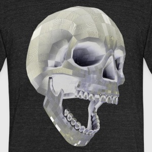 Digital Skull - Unisex Tri-Blend T-Shirt by American Apparel
