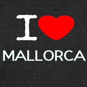 I LOVE MALLORCA - Unisex Tri-Blend T-Shirt by American Apparel