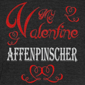 A romantic A romantic Valentine with my Affenpinsc - Unisex Tri-Blend T-Shirt by American Apparel