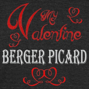 A romantic Valentine with my Berger Picard - Unisex Tri-Blend T-Shirt by American Apparel