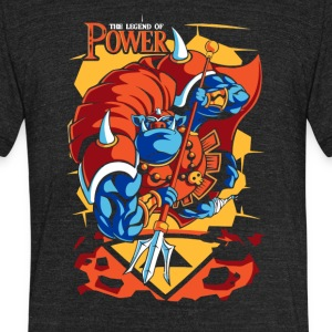 Power Of Attack - Unisex Tri-Blend T-Shirt by American Apparel