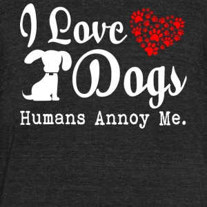 I Love Dogs T Shirt - Unisex Tri-Blend T-Shirt by American Apparel