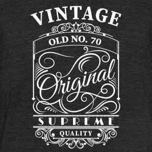 Vintage old no 70 - Unisex Tri-Blend T-Shirt by American Apparel