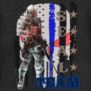 PROUD OF SEAL TEAM TSHIRT - Unisex Tri-Blend T-Shirt by American Apparel