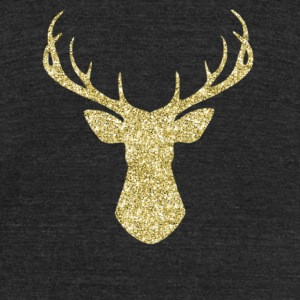 Glitter Deer - Unisex Tri-Blend T-Shirt by American Apparel