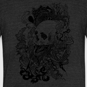 Skull Enchanted - Unisex Tri-Blend T-Shirt by American Apparel