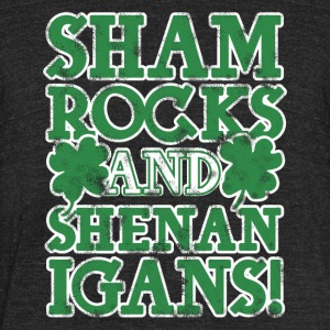 Sham rock and Shenanigans - Unisex Tri-Blend T-Shirt by American Apparel
