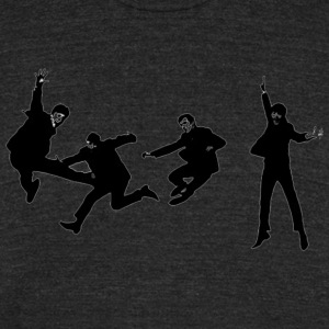 beatles jump - Unisex Tri-Blend T-Shirt by American Apparel
