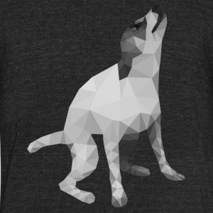 Low Poly Dog - Unisex Tri-Blend T-Shirt by American Apparel