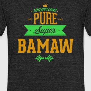 Pure Super BAMAW - Unisex Tri-Blend T-Shirt by American Apparel