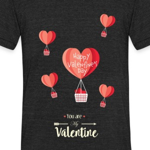 Happy Valentines Day - Unisex Tri-Blend T-Shirt by American Apparel