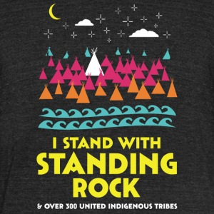 Stand With Standing Rock Shirt - Unisex Tri-Blend T-Shirt by American Apparel