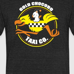 Gold Chocobo Taxi Co - Unisex Tri-Blend T-Shirt by American Apparel