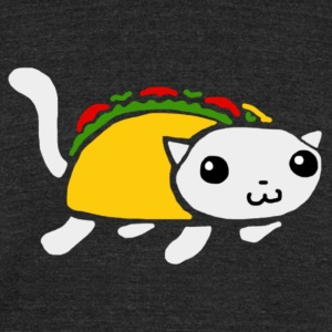 Taco D. Kitty Logo - Unisex Tri-Blend T-Shirt by American Apparel