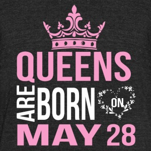 Queens are born on May 28 - Unisex Tri-Blend T-Shirt by American Apparel