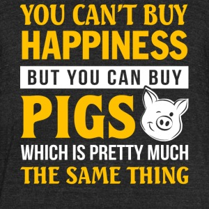 You Can Buy Pigs T Shirt - Unisex Tri-Blend T-Shirt by American Apparel