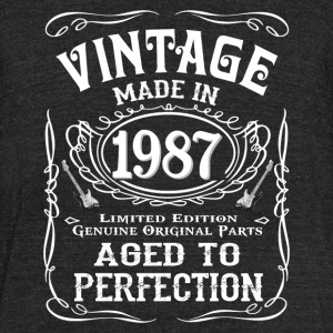 Vintage Made In 1987 - Unisex Tri-Blend T-Shirt by American Apparel