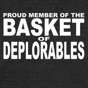 deplorables - Unisex Tri-Blend T-Shirt by American Apparel