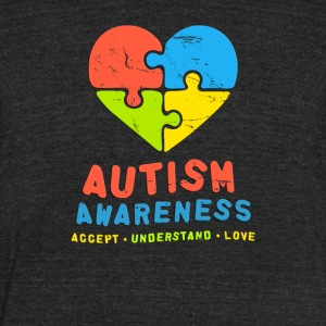 Autism Awareness Accept Understand & Love - Unisex Tri-Blend T-Shirt by American Apparel