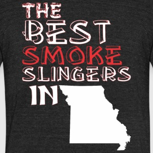 The Best Smoke Slingers In Missouri Barbecue - Unisex Tri-Blend T-Shirt by American Apparel