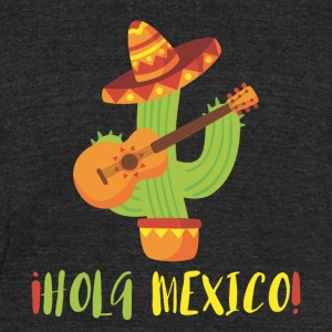 HOLA MEXICO - Unisex Tri-Blend T-Shirt by American Apparel