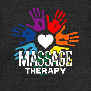 LOVE MASSAGE THERAPY SHIRT - Unisex Tri-Blend T-Shirt by American Apparel