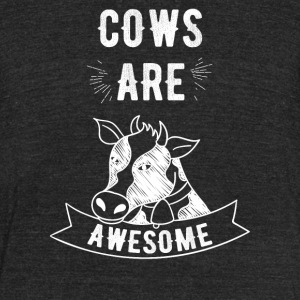 Cows are awesome - Unisex Tri-Blend T-Shirt by American Apparel