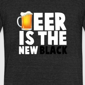 Beer Is The New Black - Unisex Tri-Blend T-Shirt by American Apparel