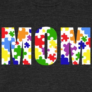 Autism Mom Love Awareness - Unisex Tri-Blend T-Shirt by American Apparel