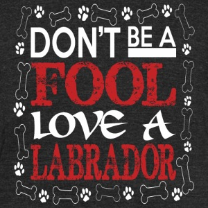 Dont Be A Fool Love A Labrador - Unisex Tri-Blend T-Shirt by American Apparel