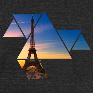 Eiffel Tower Abstract - Unisex Tri-Blend T-Shirt by American Apparel