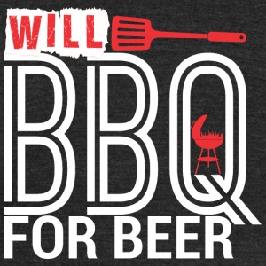 Will BBQ For Beer Barbecue - Unisex Tri-Blend T-Shirt by American Apparel