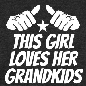 This Girl Loves Her Grandkids - Unisex Tri-Blend T-Shirt by American Apparel