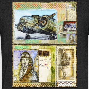 Female Pioneers of Aviation - by Fanitsa Petrou - Unisex Tri-Blend T-Shirt by American Apparel