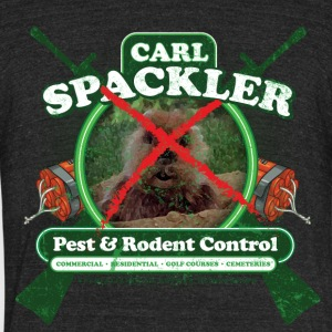Carl Spackler Pest and Rodent Control - Unisex Tri-Blend T-Shirt by American Apparel