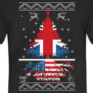 British with American root - Unisex Tri-Blend T-Shirt by American Apparel