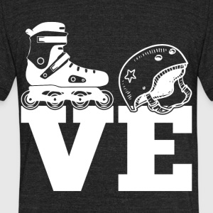I Love Skating T Shirt - Unisex Tri-Blend T-Shirt by American Apparel