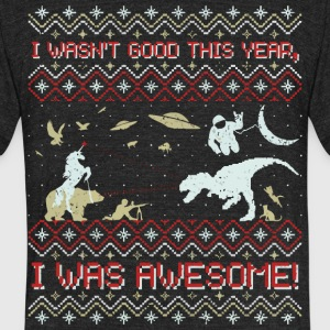 Epic Funny Xmas Sweater Tshirt - Unisex Tri-Blend T-Shirt by American Apparel