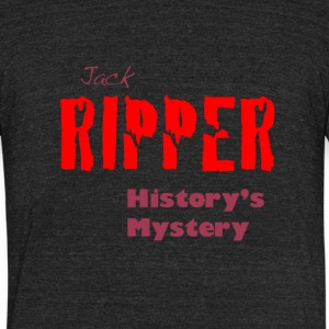 Jack Ripper History's Mystery - Unisex Tri-Blend T-Shirt by American Apparel